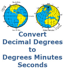 Easily Convert Decimal Degrees to Degrees Minutes Seconds